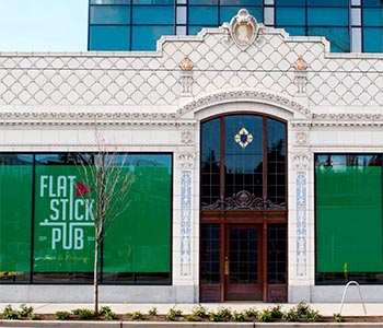Image of Flatstick Pub Signage at Allen Institute