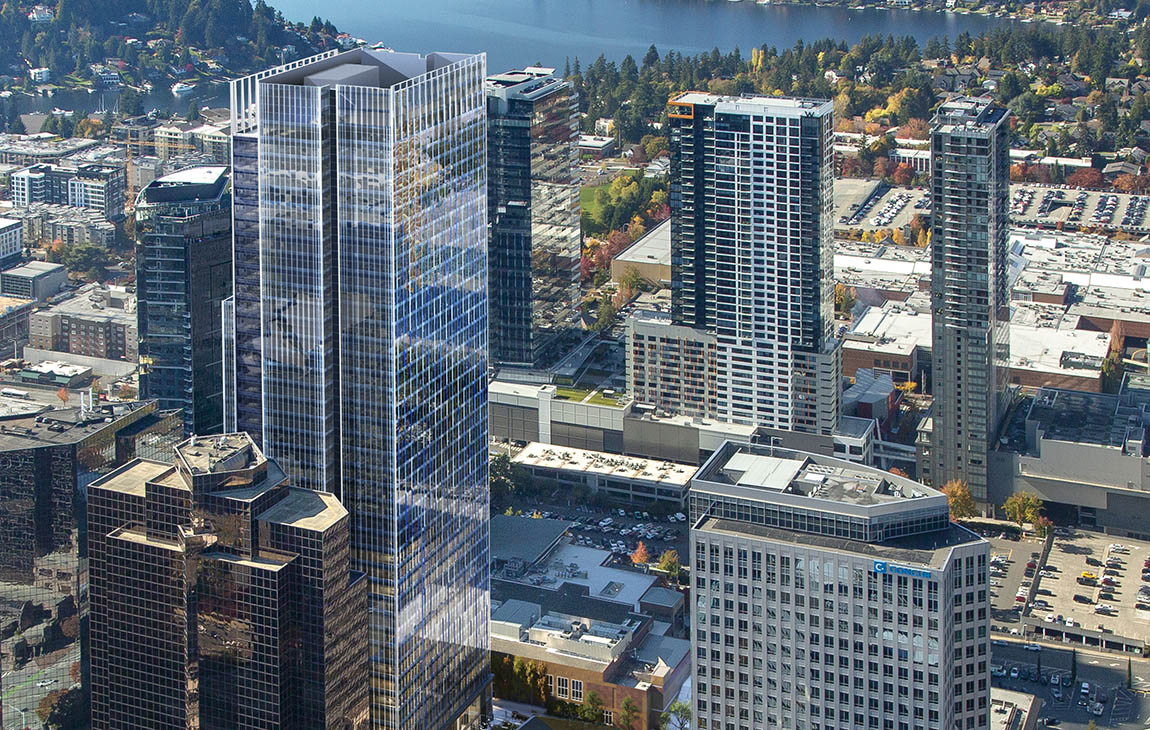 Rendering of 555 108th Ave NE Tower