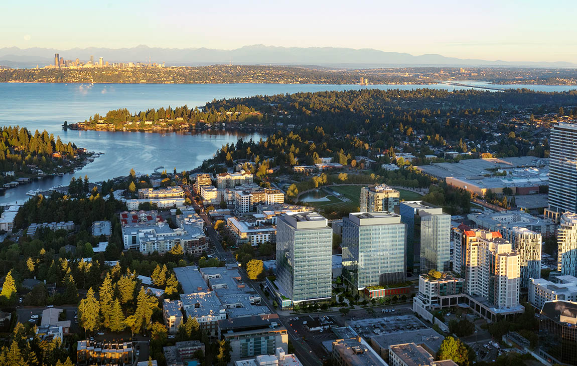 Rendering of Bellevue Plaza Open Space