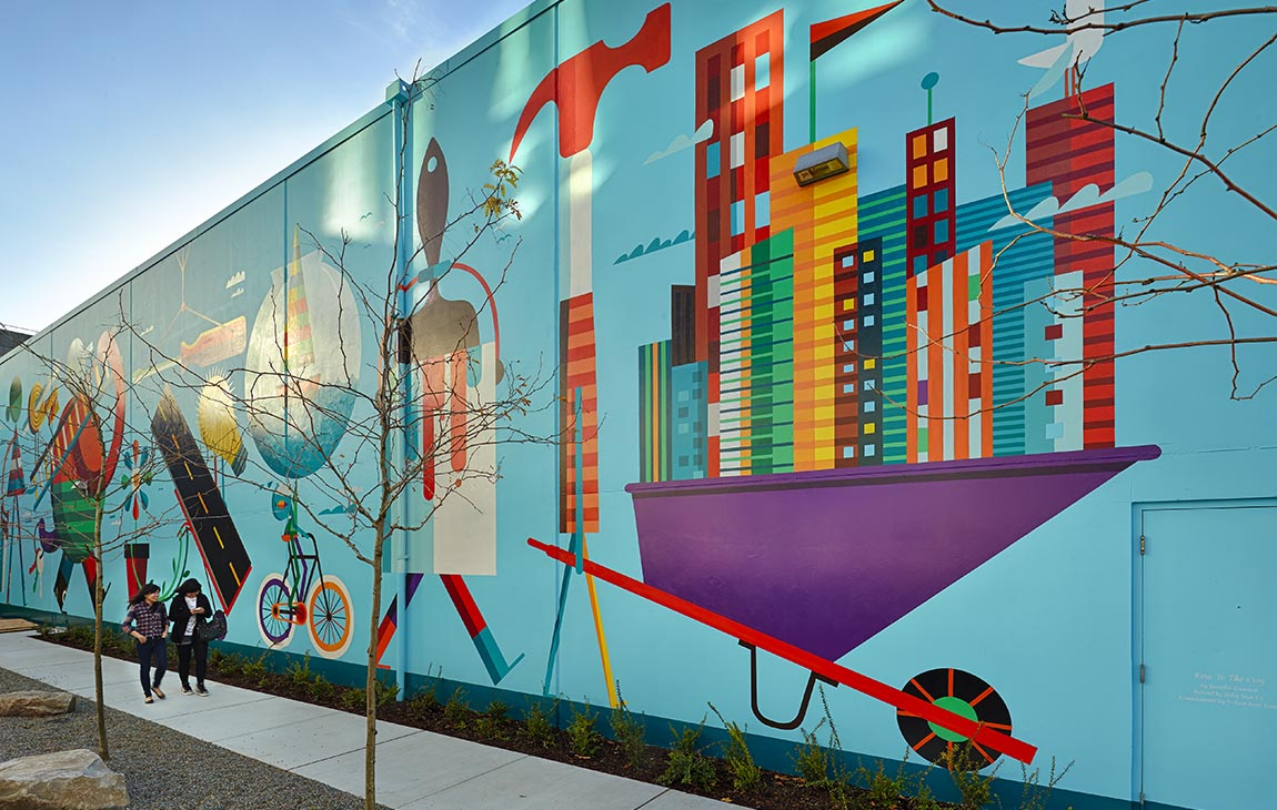 """Keys to the City"" Mural, Public Art at Amazon 5"