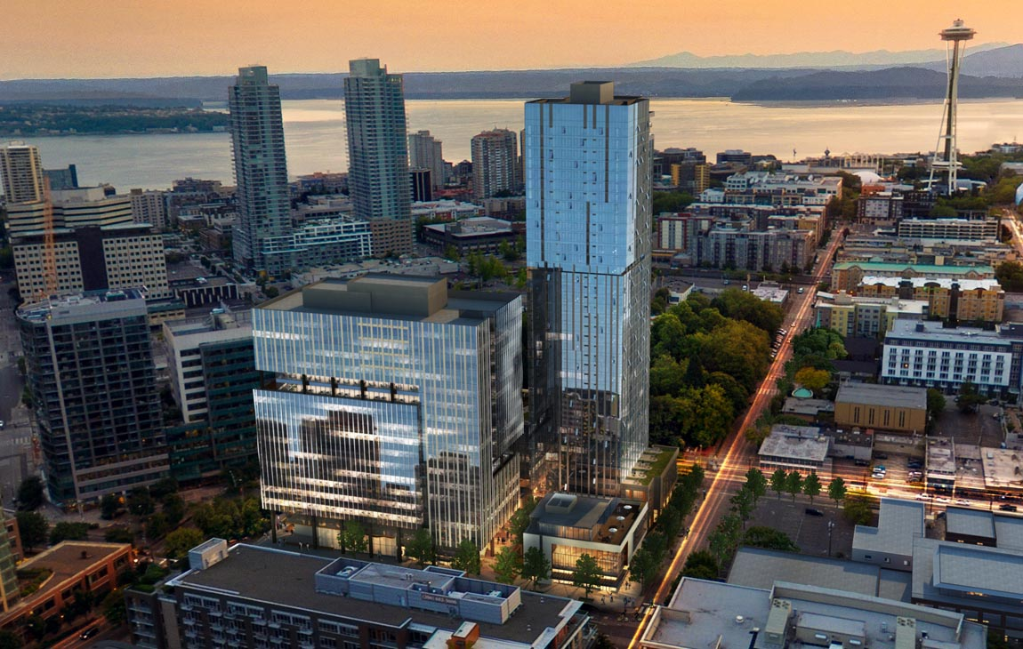 Rendering of 111 Westlake at Dusk