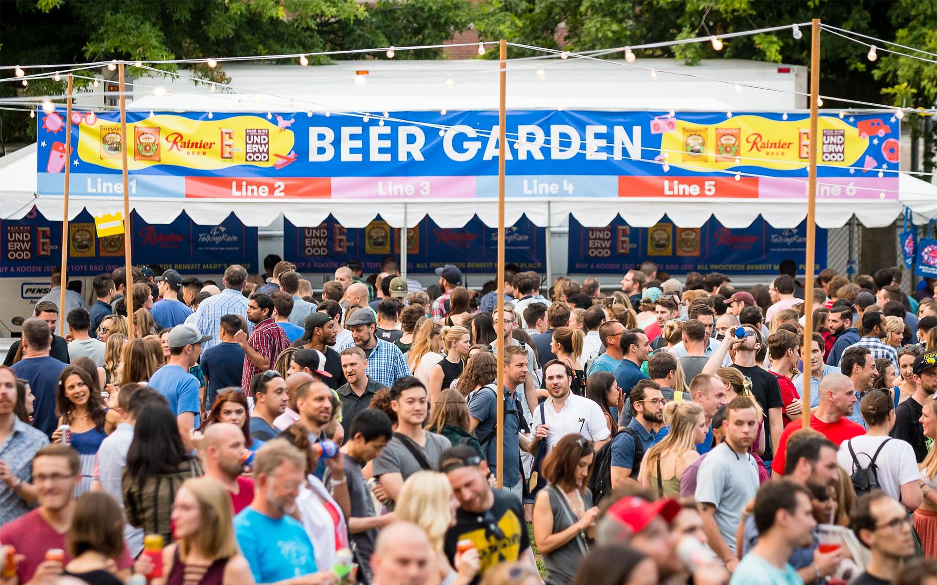 Image of Beer Garden at 2017 SLU Block Party