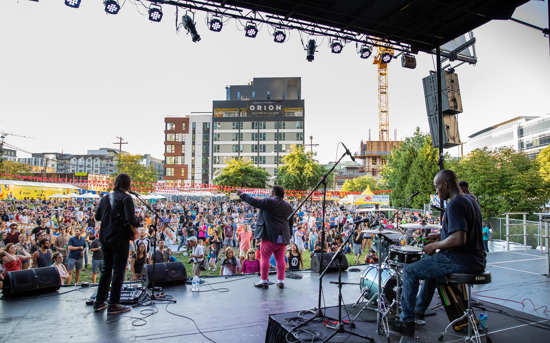 Image of Band Performing at 2018 SLU Block Party