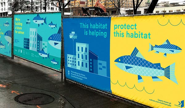 Image of Salmon-Safe Construction Fence Signage