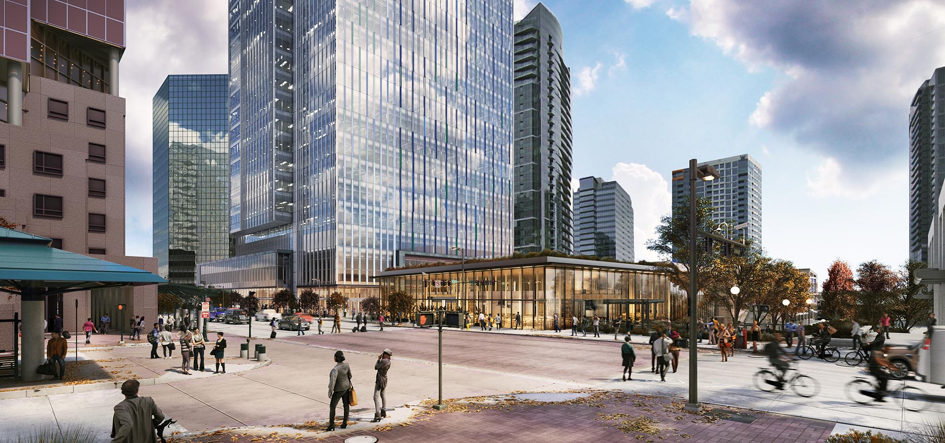 Rendering of 555 108th Ave NE Plaza