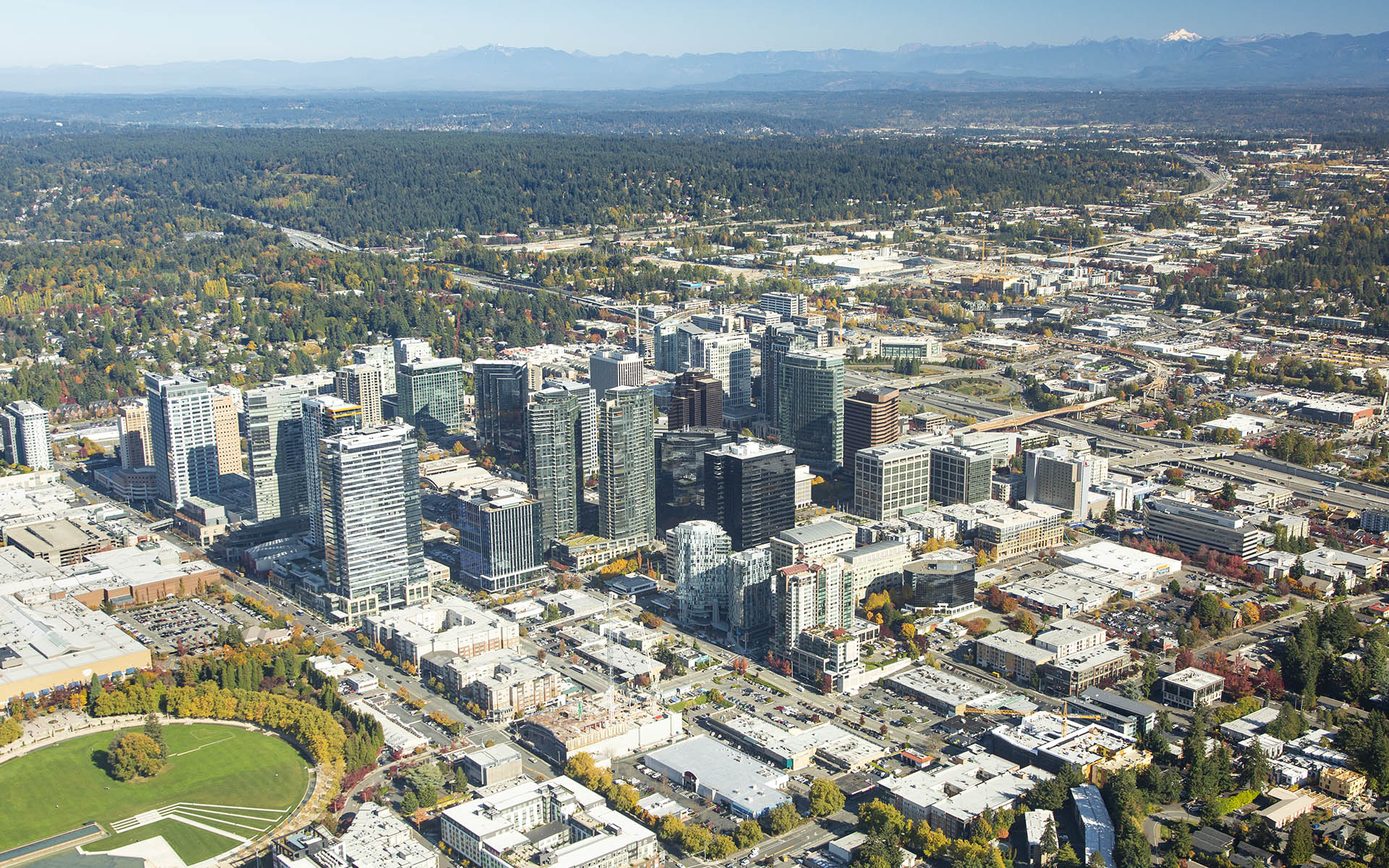 Aerial Image of Downtown Bellevue