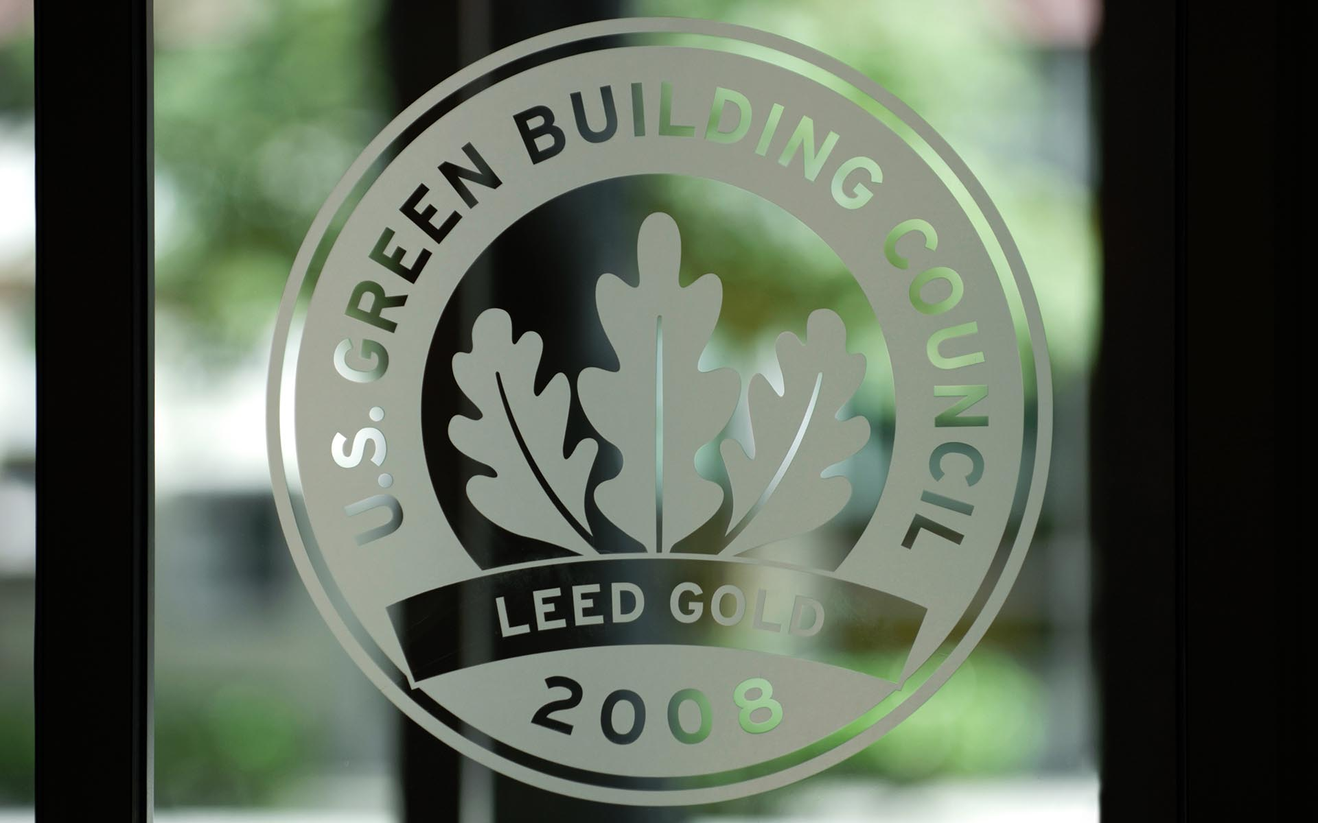 Image of LEED Logo on Window