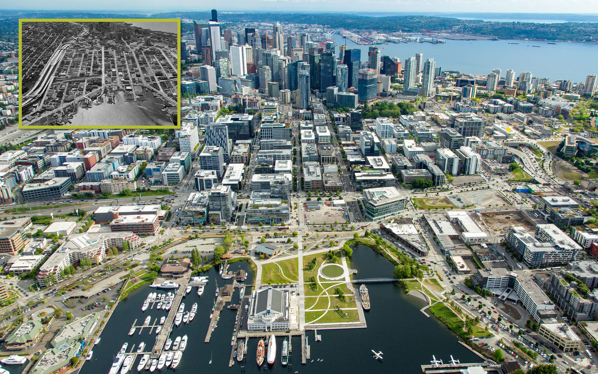 Before & After Aerials of South Lake Union