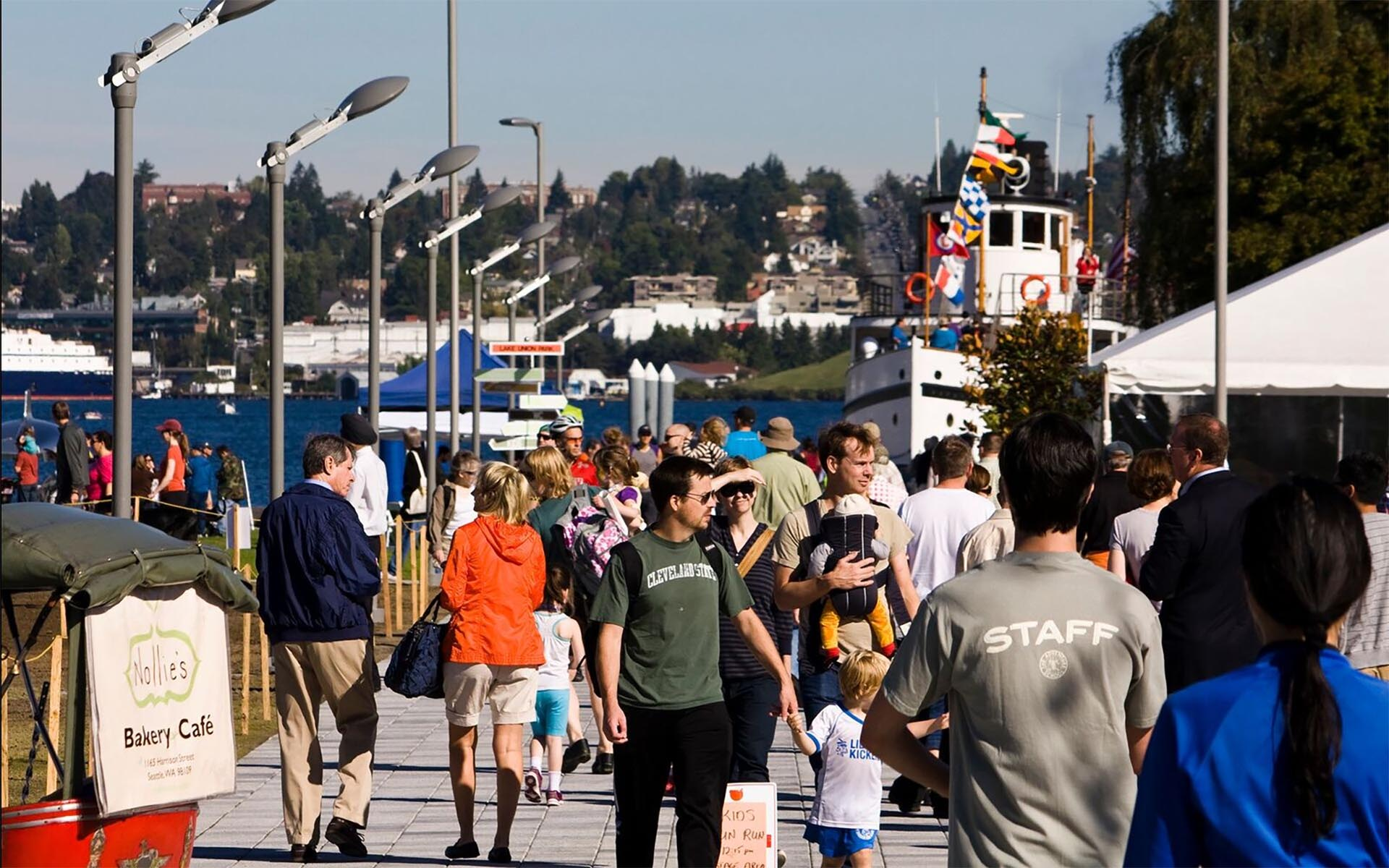 Image of Pedestrians at Lake Union