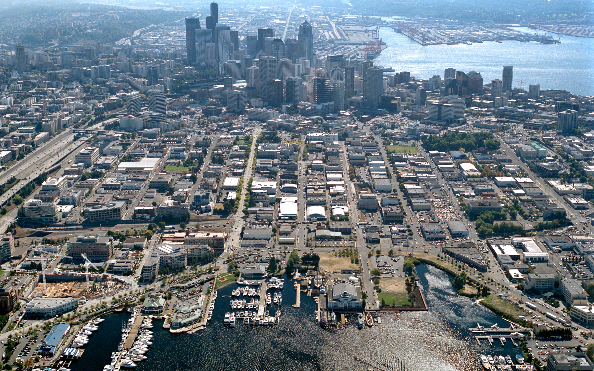 Aerial Image of South Lake Union in 2002