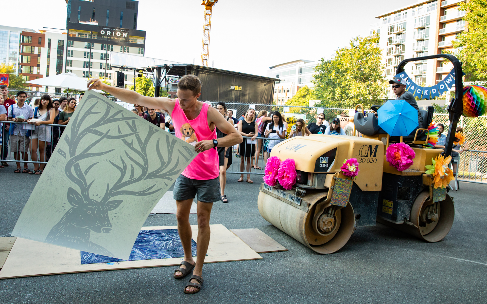 Image of Steamroller Smackdown at SLU Block Party