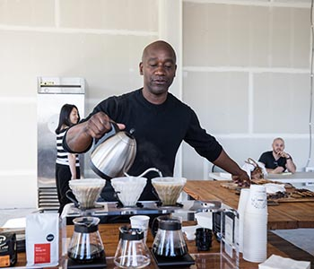 Image of Brian Wells, owner of Tougo Coffee Co
